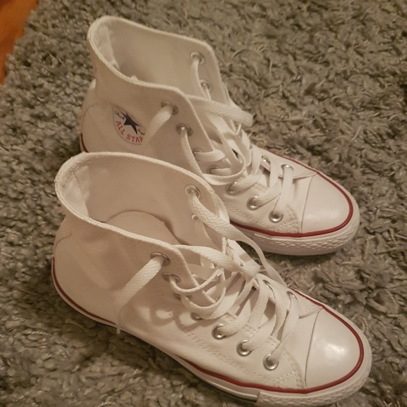Converse Shoes | Twice Used White High